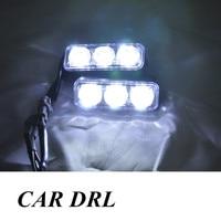 High Quality 2PCS SET 6 LED 9W Universal Car Light Source Waterproof DC12V DRL High Power