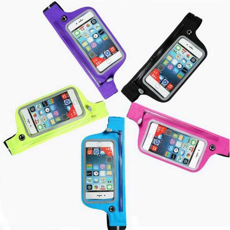 Imperméable à l'eau Sport Fanny Pack course Gym taille ceinture sac pour iPhone 6s Plus 6.0 pouces sac pochette taille ceinture étui de téléphone portable