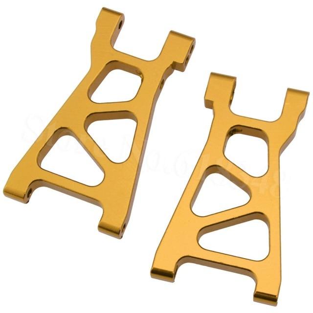 5 par Himoto M606 aluminiowe dolne ramię Susp 2P 23606 dla E18 Elcetric 1/18 RC Car Spino zawieszenie części zamienne Metal