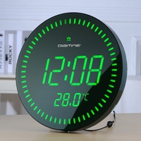 LED Electronic Wall Clock Modern Design with Alarm Temperature 3D Remote Control Digital Clocks Luminous Wall Watch Home Decor