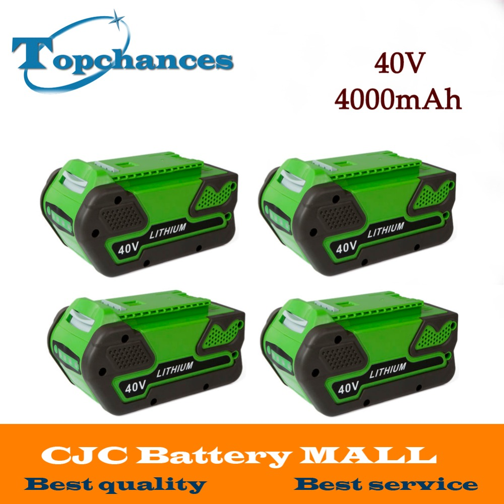 4PCS High Quality Newest 40V 4000mAh Replacement 40V 4.0AhLithium Battery for GreenWorks 29692 Gen1 Tools аккумуляторная воздуходувка greenworks 40v g40bl 24107