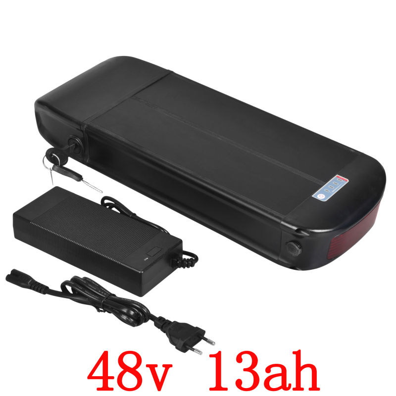 US EU No Tax 48V 13AH electric bicycle battery 48V 13AH Rear Rack Battery for Bafang