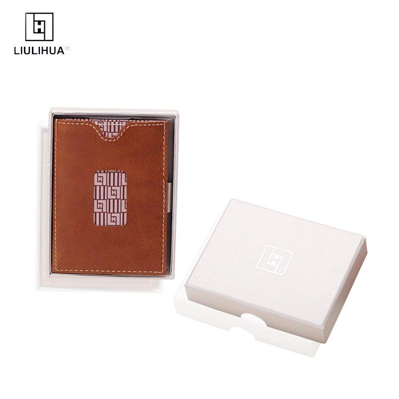 Portefeuille de voyage écologique en cuir porte-carte portefeuille minimaliste pour hommes