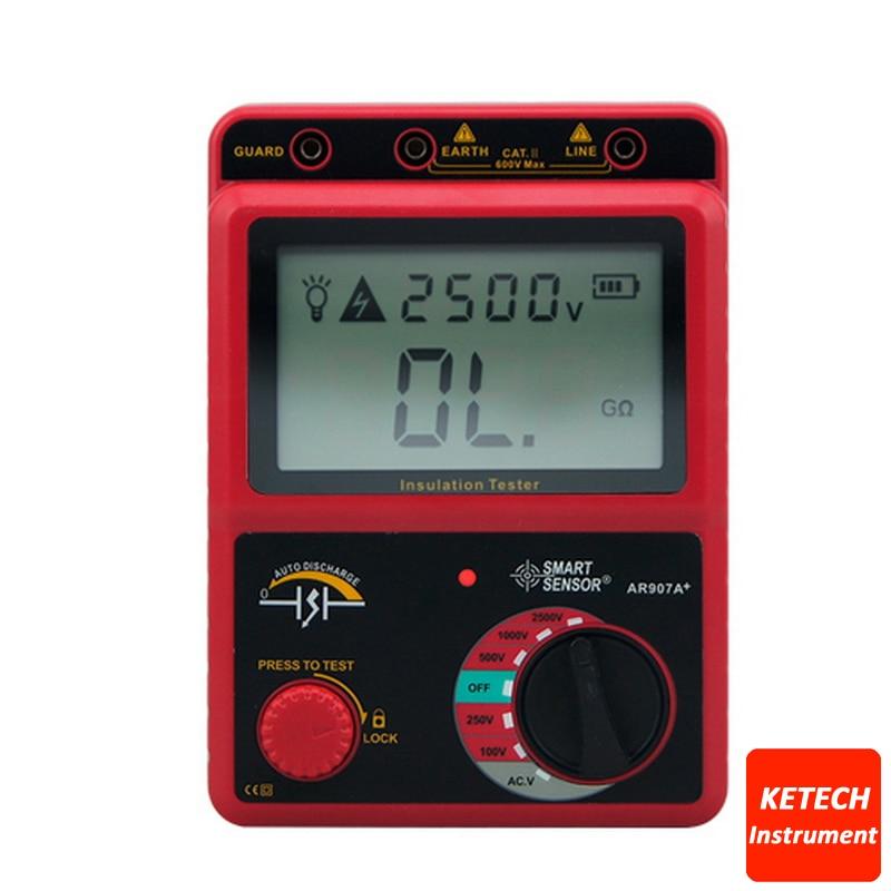 AR907A Digital Insulation Tester Megger MegOhm Meter ar907a digital insulation tester megger megohm meter