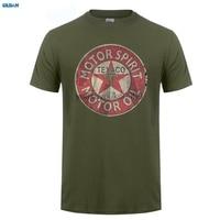 GILDAN Men S O Neck Short Funny T Shirt Slim Fit Top Texaco Retro Logo Auto