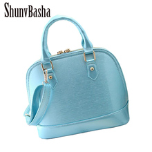 2017 New patent PUleather tote bags handbags women famous brands shell bags ladies hand bags luxury