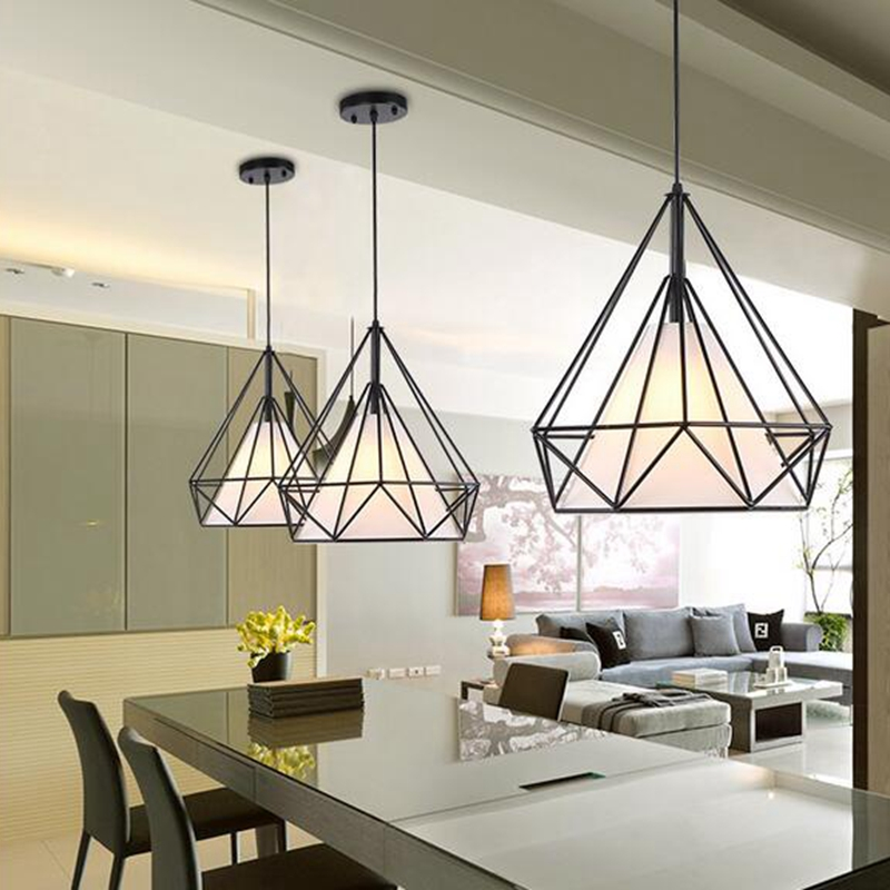 Modern Pendant Lamp Light,  Iron Frame Pendant Lights for Kitchen Island Dining Room Home Decoration luminaire lukloy pendant lights lamp vintage iron retro kitchen pendant lamp light for dining room kitchen island decor e27 e26 luminaire