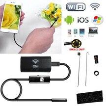 Wi-Fi Беспроводной для iOS андроид эндоскоп 2.0MP 8 мм 5 м 6LED трубки Водонепроницаемый Камера для смартфонов ноутбук Планшеты