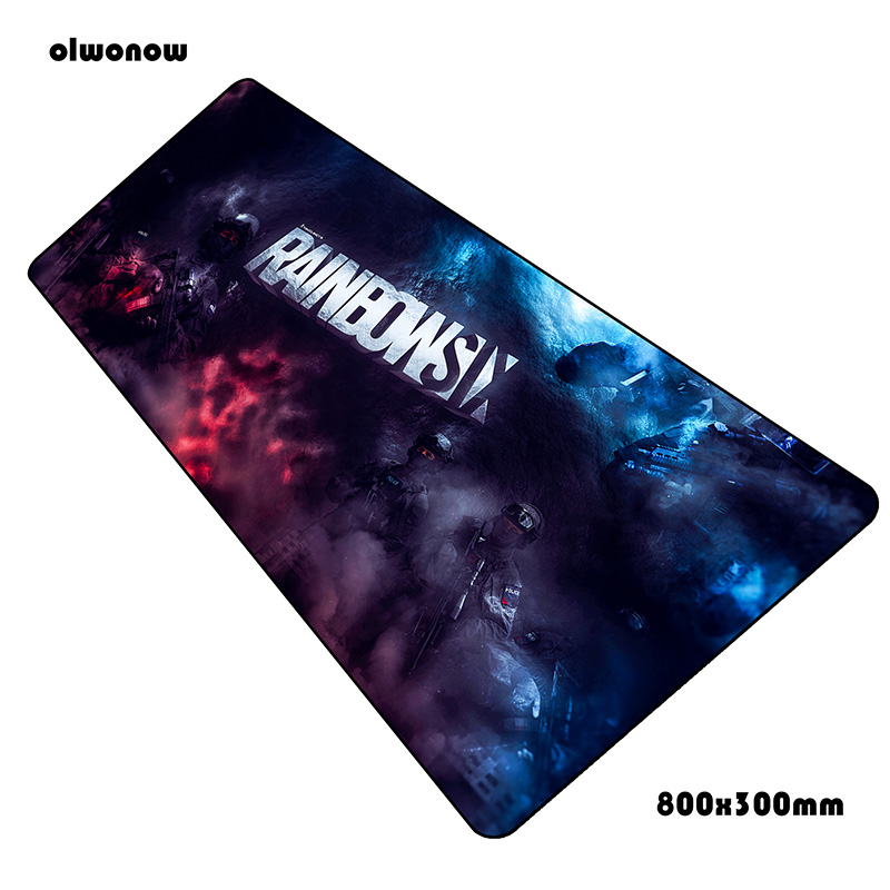 Rainbow Six Siege Mouse Pad Large Computer Mat 800x300x3mm Gaming Mousepad Best Seller Padmouse Keyboard Games Pc Gamer Desk