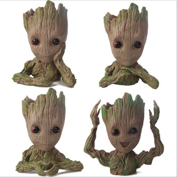Baby Groot Flowerpot Flower Pot Planter Action Figures Guardians of The Galaxy Toy Tree Man Cute Model Toy Pen Pot starcraft ii sarah louise kerrigan 12 starcraft2 queen of blades action figures toy