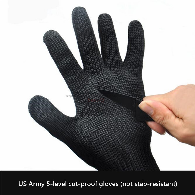Cut-proof Gloves Self-defense Protective Wire Gloves 5 Grade Cut-proof Outdoor Mountaineering Tactical Gloves Labor Insurance