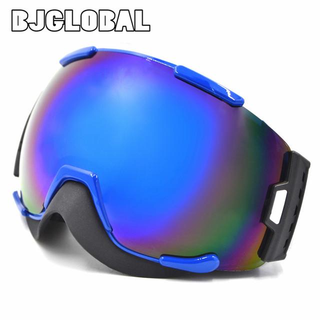Das Mulheres dos homens Óculos De Neve Óculos de Esqui Óculos de Dupla Camada Grande compatível Proteção Anti Nevoeiro óculos de Esqui Googles