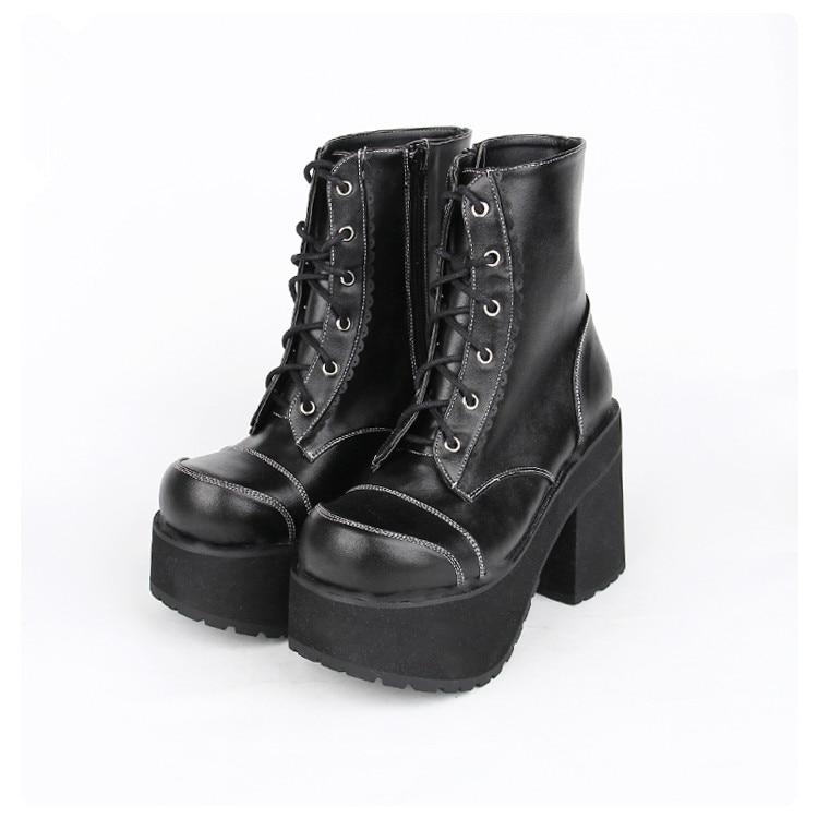 d962e5342f64e Mori Chaussures Pu 10 Haute 33 Lady Femmes Femme Moto Bottes Lolita Fille  Angéliques Black mollet Pompes Talons Bagatelle Mentions Légales ...