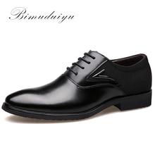 BIMUDUIYU Business männer Grundlegende Flache superfaser Leder Gentle Hochzeit Kleid Schuhe Luxury Brand Formal Tragen Britische Mode
