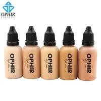 OPHIR Pro Fundación de Maquillaje Con Aerógrafo Tintas 5 Colores Fundación de Aire para Pintura maquillaje Salon Maquillaje Cosmético Pigment_TA104