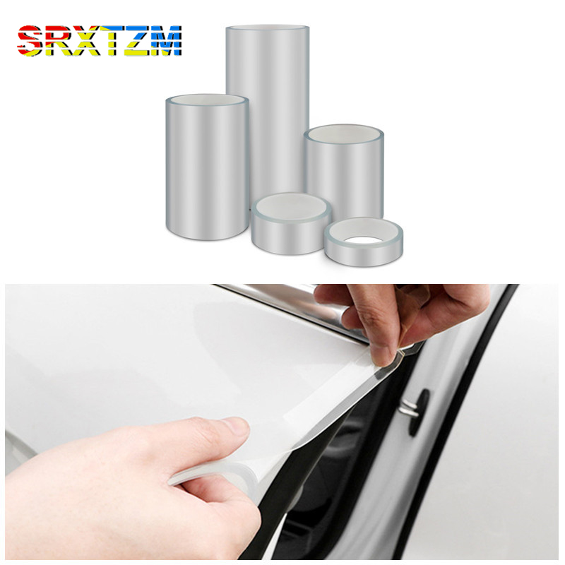 SRXTZM порог всего тела прозрачная лента Тюнинг автомобиля тела бамперы защитная пленка края двери Защитный кран против царапин лента 1 шт