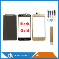 5.0 Inch For Vertex Impress Luck 15 22211 3259 2 Seperate LCD Display + Touch Screen Digitizer Black Gold Color With Tape Tools|Mobile Phone LCD Screens| |  -