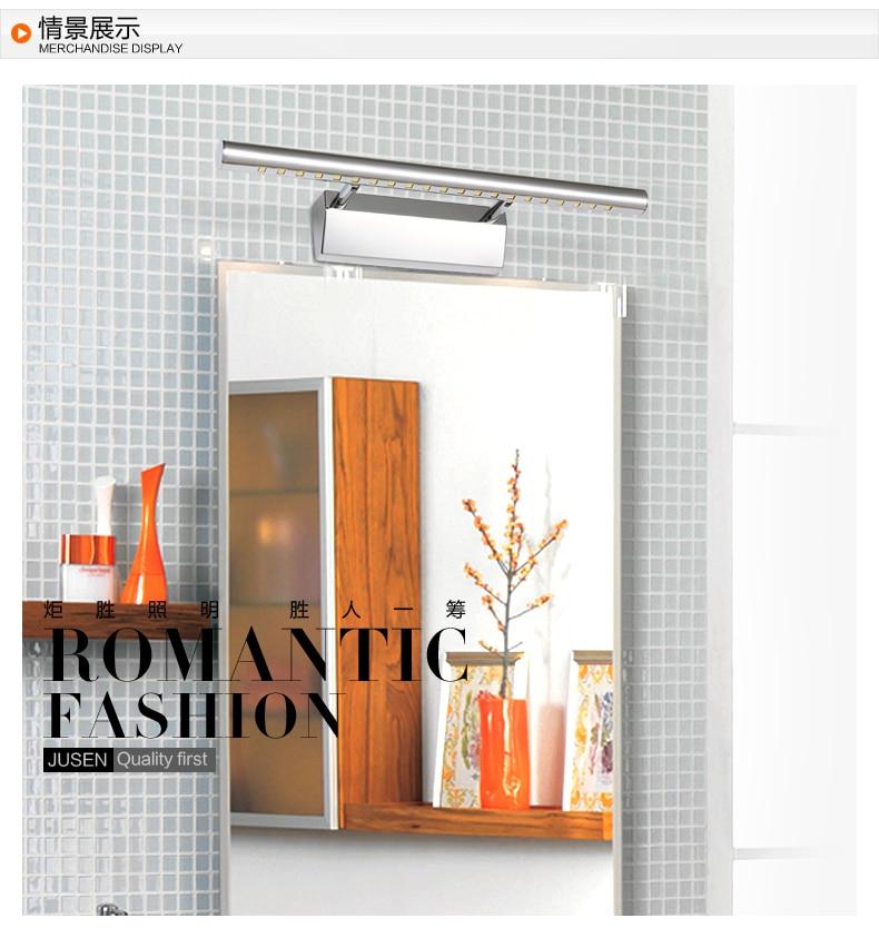 ФОТО 2015 hot sale 7W Led stainless steel bathroom cabinet lamp wall lamp, mirror lamp