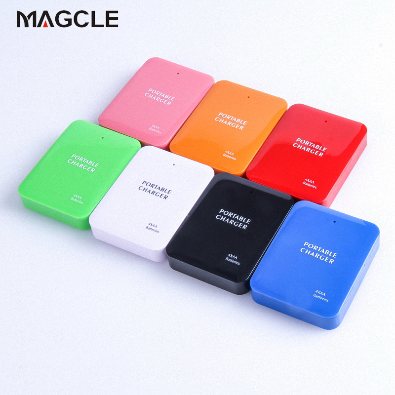 best service b24ef e07bc US $3.74 |Powerbank 4X AA Battery Emergency USB Power Bank Charger Portable  Charger for Phone Colorful Various Free Shipping-in Mobile Phone Chargers  ...