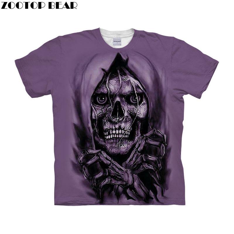 Skull Prints tshirt 3d t shirt Men Women t-shirt Funny Top Tee Short Sleeve Tee Autumn Camiseta Streetwear Drop Ship ZOOTOP BEAR