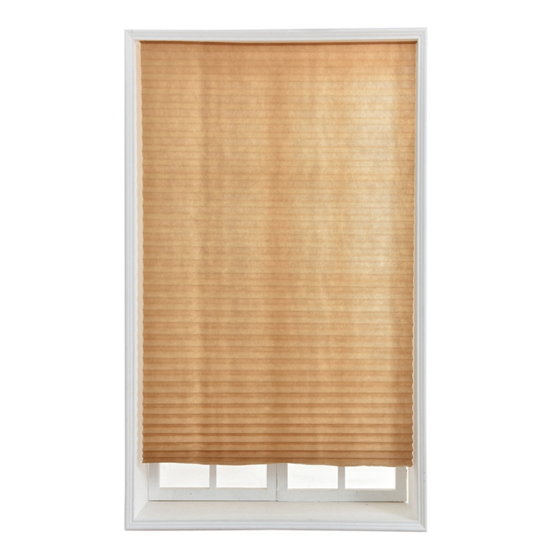 1 Pack Blackout Curtains Cordless Light Filtering Pleated Fabric Shade Install 4 Clips Pleated Curtain For Living Room Bedroom