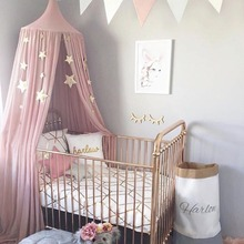 House Hang Game Baby Tent Round Bed Canopy For Kids Crib Curtain Tipi Lace Net Decoration Tenda Infantil