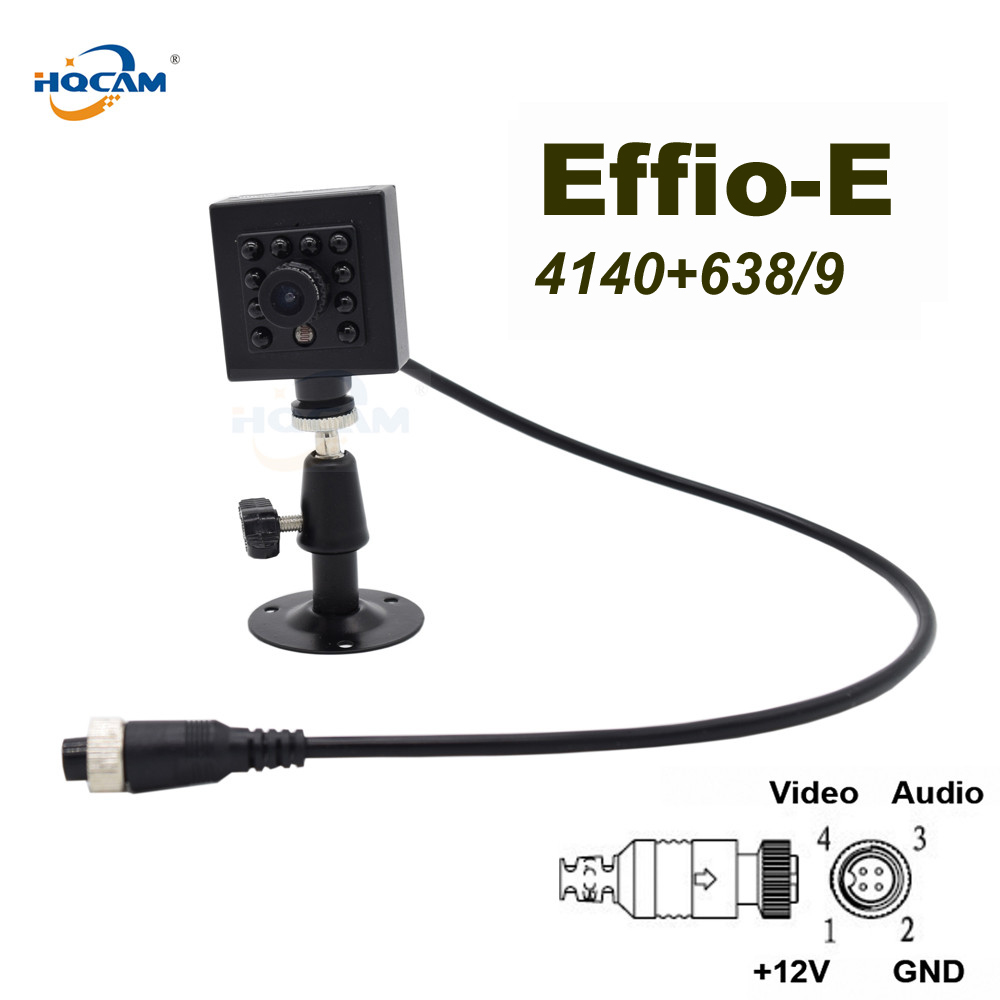 HQCAM Effio-E Sony CCD 600TVL WDR 0.001Lux Night vision 10pcs 940nm IR LED Security Indoor Mini ccd camera bus vehicle camera ahd 2 0mp indoor truck mini camera ir night vision 1 3 ccd sony pal 3 6mm for vehicle school bus vans taxi surveillance security