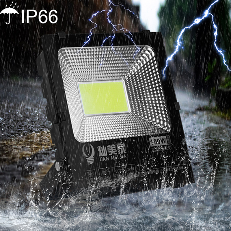 LED Spotlight Floodlight 50W 100W 220V Outdoor Led Flood Light Reflector IP66 Floodlights Wall Lighting Construction Lamp White-in Floodlights from Lights & Lighting    1