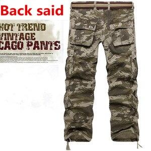 Image 5 - Pantalones Cargo de camuflaje del ejército militar para hombre, 9 colores, multibolsillos, informales, rectos, largos, holgados, pantalones de camuflaje tácticos (sin cinturón)
