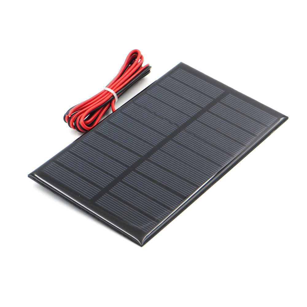 5.5V Solar Panel with 30/100/200cm wire Mini Solar System DIY For Battery Cell Phone Charger 0.44W 0.55W 0.6W 0.88W 1W 1.6W toy