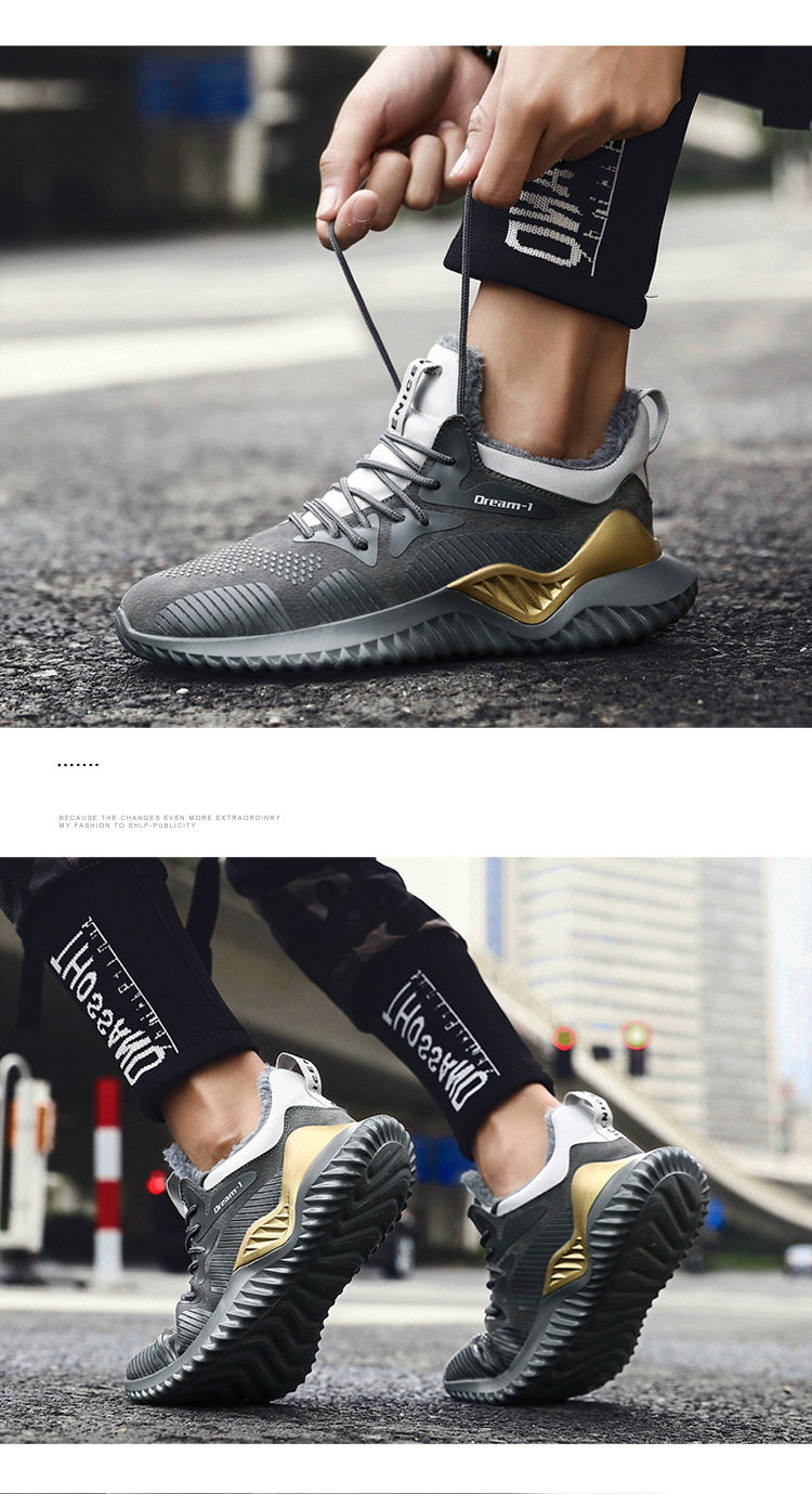 ZYYZYM Men Winter Sneakers Autumn Men Casual Shoes Plush Keep Warm Walking Shoes Men Fashion Shoes For Men Zapatos Hombre