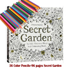 36 Color Pencils 96 Pages English Secret Garden Coloring Books For Adult Hand Drawn Relieve Stress