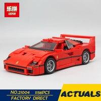 LEPIN 21004 1158pcs Ferrarie F40 Sports Car Model Building Blocks Kits Bricks Toys Compatible with 10248