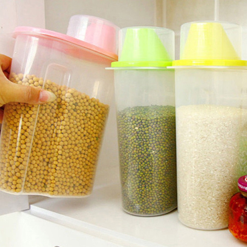 Kitchen Diorama Made Of Cereal Box: New Hot Kitchen Storage Organizer Grain Storage Container