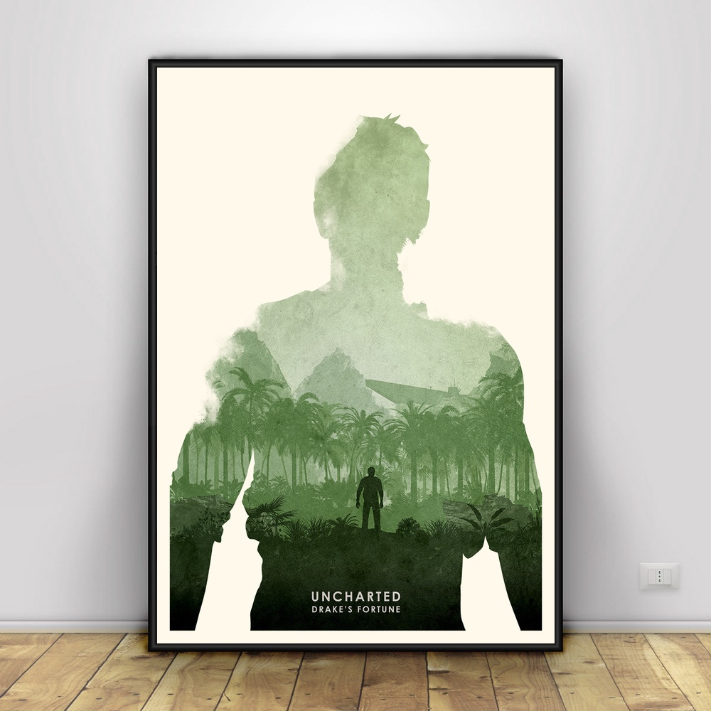 Uncharted 4 A Art Silk Poster Home Decor 12x18 24x36inch