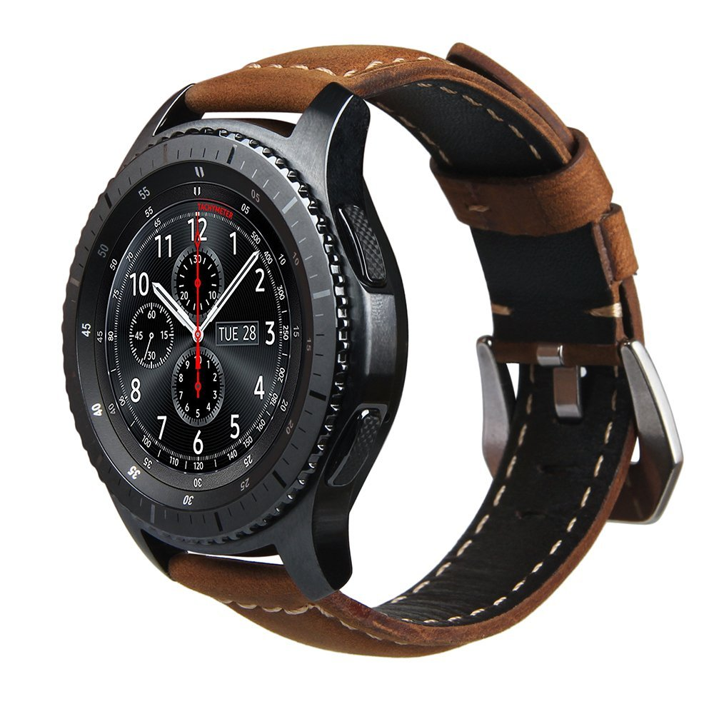 Genuine Leather Watch Strap Band For Samsung Gear S3 Frontier Classic Strap For Huami Amazfit Stratos 2 2S Bracelet Bands 22mm