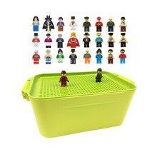 100 город совместимые Строительные блоки DIY Brinquedos коробка для хранения 2019 мальчик девочка игрушки подарки кирпичи Мини фигурки или не для детей
