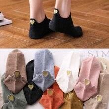 Women Socks Kawaii Love Embroidered Happy Fashion Ankle Funny Socks Women short Cotton harajuku art cute socks Summer цены