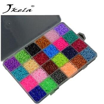 [New] 13000Pcs 24 Color Hama Beads 2 6MM Perler Beads DIY Creative Puzzles  Tangram Jigsaw Board Educational Toys Gifts