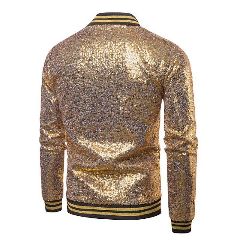Blazers brilhantes blazers ouro lantejoulas glitter terno