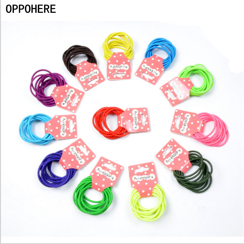 10 Pcs/Lot Baby Girl Tiny Hair Bands Ropes Cute Kids Elastic Ties Ponytail Holder Hair Accessories Hot Hairband For Children 100pcs spiral spin screw braider hair ties spiral shape twist elastic hair bands kid ponytail holder tie gum hair accessories