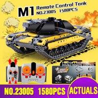 DHL 23005 Legoing Technic серия с мотором пульт дистанционного управления Танк набор строительных блоков Кирпичи радиоуправляемая модель танка игруш