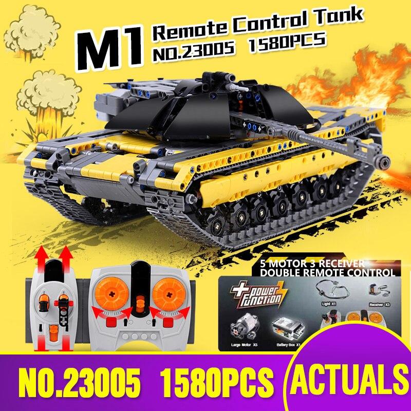 DHL 23005 Legoing Technic série avec moteur la télécommande réservoir Set briques de construction RC réservoir modèle jouet cadeau de noël
