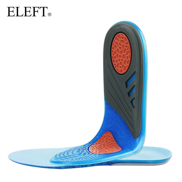 ELEFT Navy blue gel insoles comfortable Silicone insole Shock Absorption pads Foot Care Plantar Fasciitis Running Sport Insoles