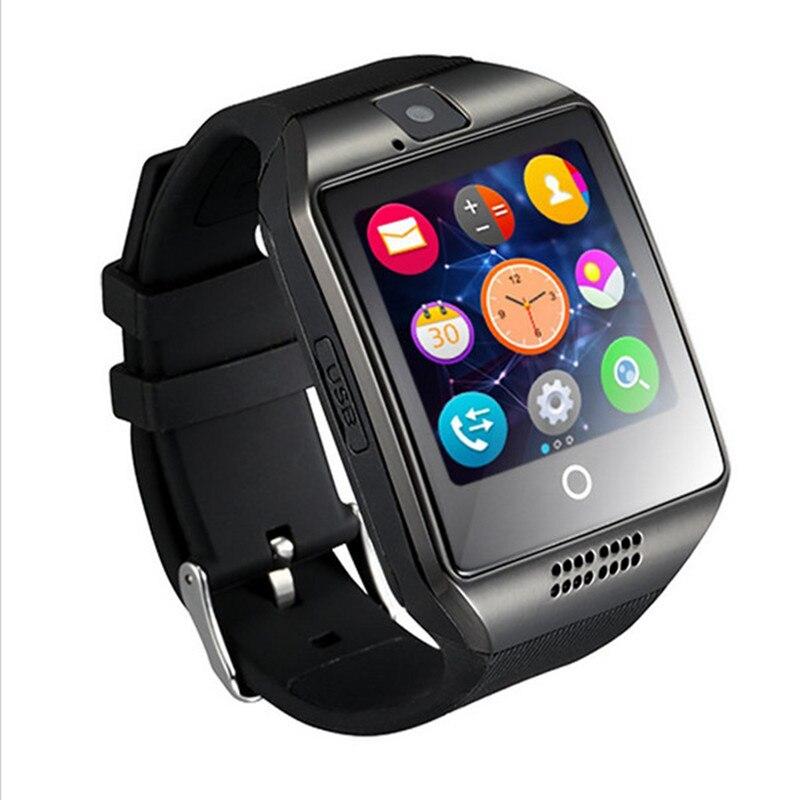 Venta caliente bluetooth nfc smart watch q18 con cámara de sincronización de fac