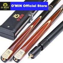 2019 O'MIN Tulip 3/4 Piece Snooker Cue with Case with Extension One Piece Snooker Cue with Case 10mm Tip Billiard Cue Stick стоимость