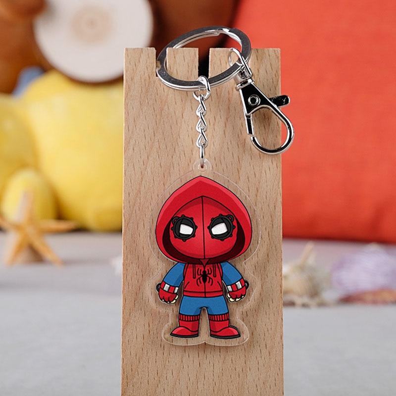 Marvel Film Spiderman Der Avengers Superhero Cartoon Abbildung Auto Schlüssel Ketten Halter Beste Freund Graduation Chirstmas Tag Geschenk