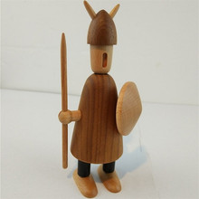 Home decoration Danish figurine puppet doll Vikings A&B&C carving solid wooden oranments creative gift/free shipping