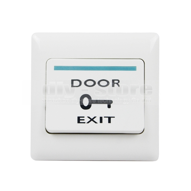 DIYSECUR Hot Sales Push Door Release Exit Button Switch for Electric Access Control System White