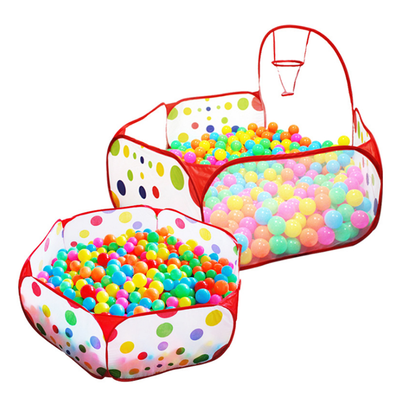 2018 New Foldable Children Kid Ocean Ball Pit Pool Game Play Tent Ball Hoop In/Outdoor Play Hut Pool Play Tent House tents